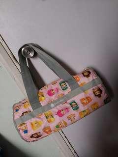 711 檸檬茶bb 圓柱型運動袋