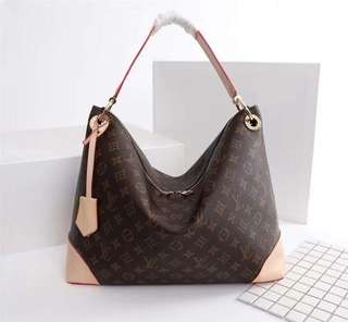 LV BERRI Monogram Canvas Hobo