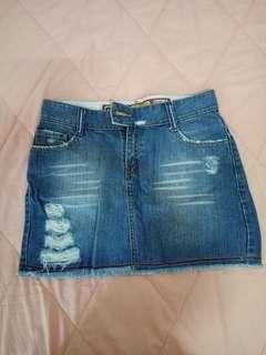 Rok blue jeans