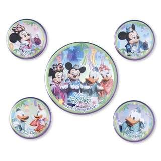 Tokyo Disneysea Disneyland Disney Resorts Sea Land Tanabata Days 2018 Mickey Mouse & Friend Badge Set Preorder
