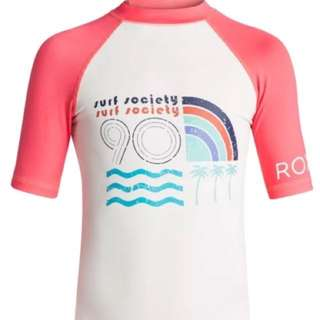 100% Authentic and Brandnew Roxy Rashguard for Girls 14/XL