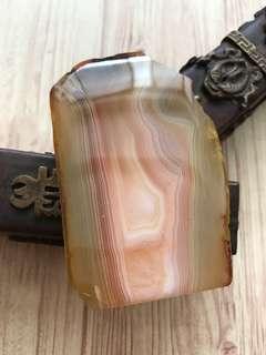 Agate crystal tumbled stone