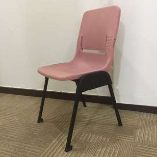 (Discounted!) Standard sized student chairs in pink ($6 for 1, $22 for 4)