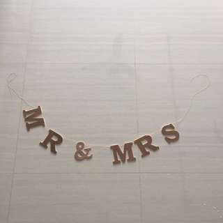 Mr & Mrs Alphabets - Perfect for your Wedding Reception Deco
