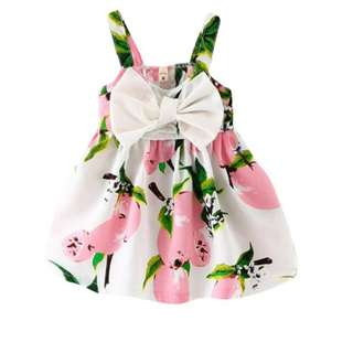 Kids Girls Princess Bow Sleeveless Girl Clothes Baby Girl Dress