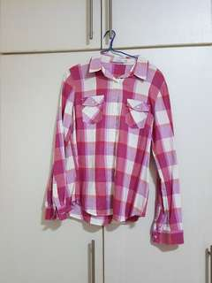 Bossini pink Checked Top