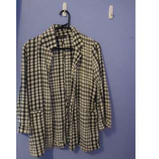 Glassons Linen Blend Checkered Jacket