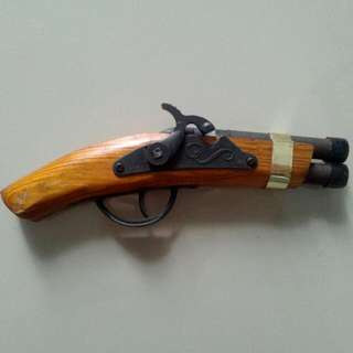 Mix Metal Wood Toy Gun Pistol Vintage 2