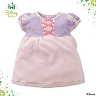 (現貨送平郵)  日本進口,日本西松屋 迪士尼嬰兒連衣裙公主裙 Nishimatsuya Disney Baby Rapunzel 生日會 baby dress gift (本店只出售正版日本進口貨品,絕非淘寶原單跟單翻版假貨)