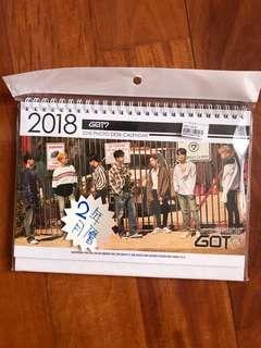 got7 18-19年 月曆