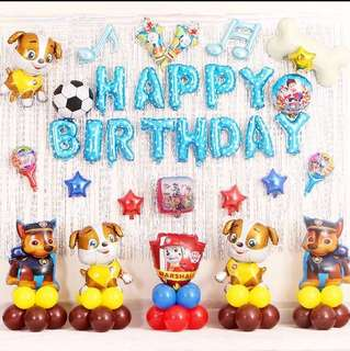 Paw patrol theme Party Decoration set