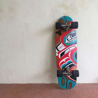 Landyachtz Longboard with Colored Graphics