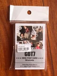 got7 mini postcards