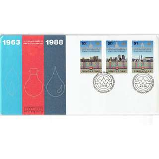 FDC #330  25th Anniversary of Public Utilities Board 1963 - 1988
