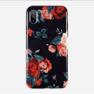 Floral gossy imd case iphone 5 5s Se 6 6s Plus 7 8
