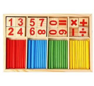 Kids Montessori Mathematical Intelligence Stick Preschool Educational Toys