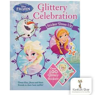 Disney Frozen Glittery Celebration Sticker Dress Up Dress Elsa, Anna and Their Friends in Their Best Outfits!