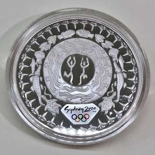 "5$ 2000 Sydney Olympic 1 oz silver proof coin ""Festival of the Dreaming"""