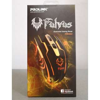 BNIB PROLiNK® FULVUS 7-Colour Illuminated Gaming Mouse (PMG9003)