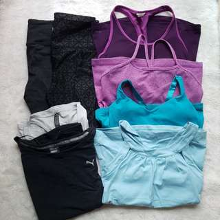 All 8pcs at $100! Lululemon, Athleta, Puma, Cotton On