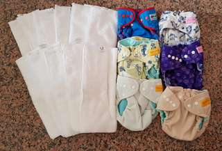 Bumwear cloth diapers with inserts