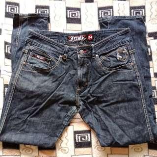 Auth TRIBAL Distressed Denim Jeans / Pants