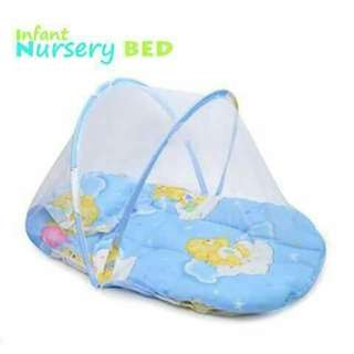 Foldable Baby Bed - BLUE