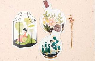 (PO) Greenhouse Girl Postcards/ Post Cards