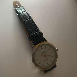 CK black strap watch inspired