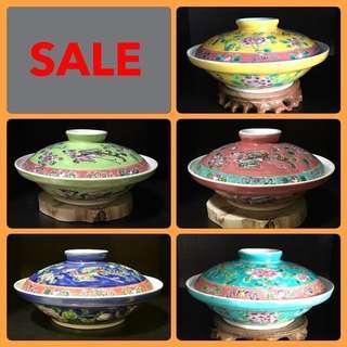 Vintage Peranakan Bowl With Lid