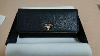 Brand New Authentic Prada Vitello Grain Leather Wallet