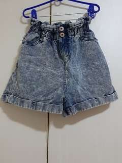 Factorie Paper Bag Denim Shorts