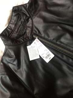 Uniqlo men's leather jacket