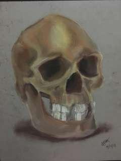 Skull Pastel Painting