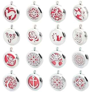 Stainless Steel Essential Oil / Perfume Diffuser Necklace