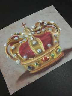 Crown pastel Painting