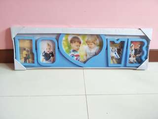 Blue Family Photo Frame