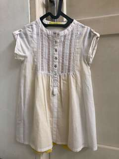 Dress abu daleman kuning