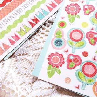 [Large Fabric Stickers] Celebrations - Fabric Stickers, Available In 2 Designs.