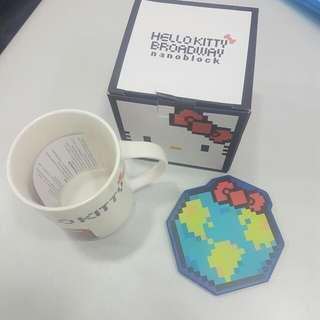 全新100%正版Hello Kitty 陶瓷杯連陶瓷杯墊