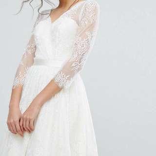 Chi Chi London Lace Dress Wedding Dress Pre-wedding 白色結婚裙