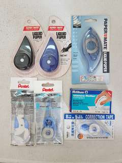 Correction Tape, various brand