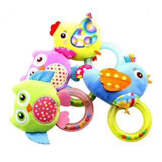 Happy Monkey Baby Rattle Toy