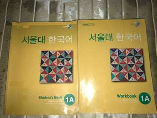 서울대 한국어 Seoul university Korean language 1A txbk and workbk