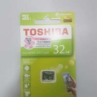 全新TOSHIBA Micro SD 記憶卡 32 GB