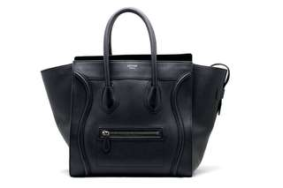 Celine Drummed Leather Mini Luggage Tote Bag