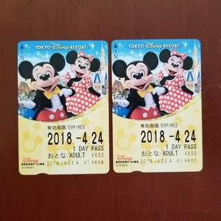 Tokyo Disney Resort Line 車票 (無票值) (有6張) (請註明買幾多張)