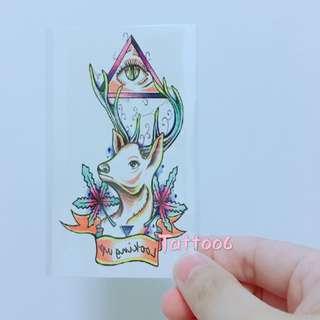 防水 彩色 紋身 貼紙