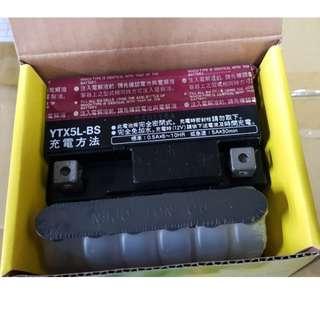 🚚 湯淺機車電池 YUASA  YTX5L-BS 5號機車電池 90/100cc