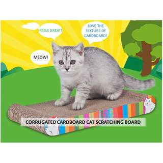 READY STOCK Cat scratch board / scratching post / cardboard